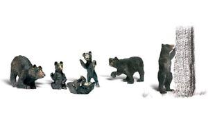 NEW Woodland O Scale Black Bears Train Figures A2737
