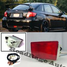 For 11-Up Subaru Impreza WRX STi XV Crosstek JDM Red Lens Rear Fog Light Lamp