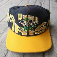Vintage 90s Notre Dame Fighting Irish Snapback Hat by Apex One Cap