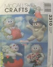 McCall's Crafts 3310 Dreamsicles Angel Hugs Pattern Angels Boots Hat Gift Flower