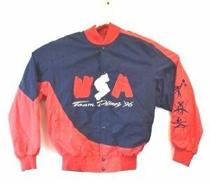 Mickey Inc Men's Small Team Disney 96 USA Olympics Jacket Snap Button Up Atlanta