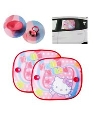 Hello Kitty Coche Lateral Plegable persianas, 1 Par, Rosa Linda Diseño