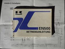 Kawasaki EN 500 C1 Betriebsanleitung Fahrerhandbuch  Dez 1995 mit Schaltplan
