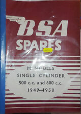BSA PARTS BOOK FOR THE BSA M20 AND M21 1949 TO 1958