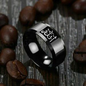 Mens Arabic Muslim Black Ring