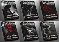 Rock 1-6 Epic Bundle Ultimate Dark Collection  All Rock Packs WAV Samples Loops