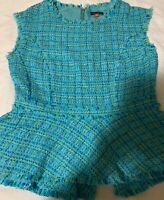 VINCE CAMUTO WOMEN'S GREEN POLYESTER SLEEVELESS BLOUSE SIZE M