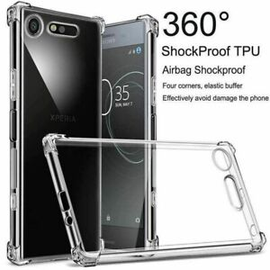 Crystal Clear Rubber Back Cover Case For Sony Xperia10 Plus XA1/2 XZ2 Compact L3