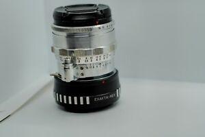 Carl Zeiss Jena BIOTAR Lens f/2 58mm Silver 10-BLADES version Exakta