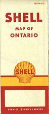 1956 Shell Road Map: Ontario NOS