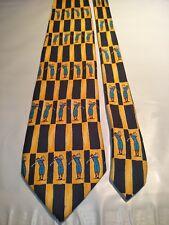Charleston Tie Rack Men's Silk Tie in a Multi-coloured Golfing Geometric Pattern