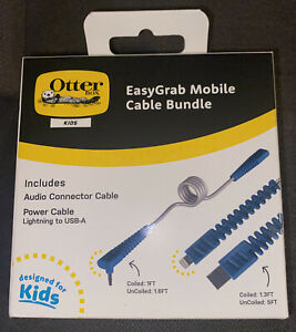 OtterBox Kids' Easy Grab Mobile Cable Bundle - Space Silver/Blue 📲