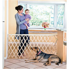 Expansion Walk -Through Room Divider Swing Wide Baby Gate Pet Dog Safety Fence