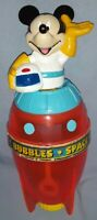 Collectible Mickey Mouse Bubble Rocket Bubbles Container 1995 Tootsie Toy/Disney