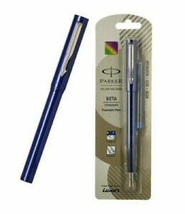 Parker Beta Standard CT Fountain Pen BLUE BODY -1 | With Blue Ink Cartiage