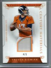 Trevor siemian 2016 PANINI NATIONAL TREASURES MATCH d'Occasion Maillot #4/5