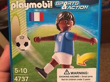 Playmobil 4737 Soccer Player Athlete France Black French NRFB Retired