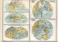 Cartes des mondes connus dans les temps anciens....1894