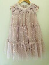 M.L. Kids mauve pink tulle ruffle dress size 7