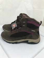 Timberland Mt Maddsen Lace-Up Womens Hiking Boots, Dark Brown Red, 8.5 US