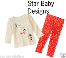NWT Gymboree MOD ABOUT ORANGE Outfit 5T Girls Puppy Tricks Tee Top Red Leggings