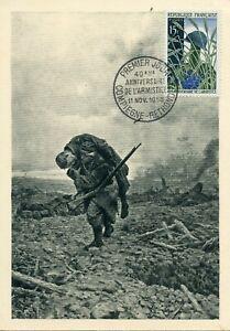 MAXIMAPHILIE / CARTE POSTALE MAXIMUM FRANCE N° 1179 ARMISTICE COMPIEGNE 1958