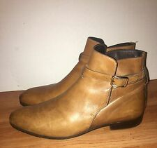 PRADA Men's Leather Ankle Boots Sz. 7.5 Excellent Pre-Owned Condition