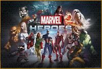 Comics Hero 1000 Puzzle Jigsaws Marvel Captain Cartoon Kids Toys Play Wall Decor