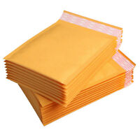 Wholesale 50Pcs 11X13cm Kraft Bubble Mailers Padded Paper Envelopes Free Shiping