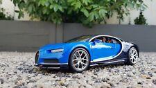 Maisto Bugatti Chiron Diecast Carbon And Blue 1:18  Maisto Special Edition