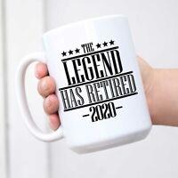 The Legend Has Retired 2020 Coworker Farewell Retirement Gift Ceramic Coffee Mug