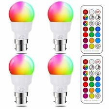 iLC LED Light Bulbs Colour Changing Dimmable 3W = 20W Bayonet RGB + Cool White