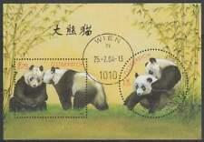 Oostenrijk 2003 gestempeld block 18 - Panda in Schonbrunn (SG317)