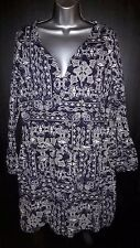 La Redoute Creation Activewear Navy Blue Printed Dress Size UK 16