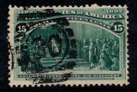 USA 1893 Mi. 81 Gestempelt 100% 15 C, Columbus, Entdeckung Amerikas