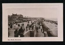 Yorkshire Yorks HORNSEA Promenade scene 1909 RP PPC local pub Wm Smith