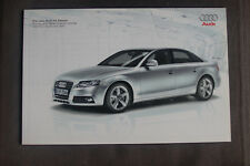 Audi A4 Saloon 2007-08 UK Market Sales Brochure, Pricing and Specification Guide