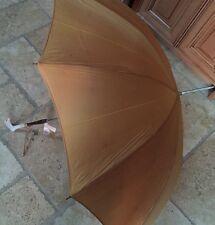 Gold Vintage S Klein's Dept Ladies Womens Parasol Umbrella Pearl Lucite Handle