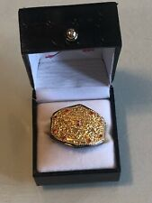 Official WWE Authentic World Heavyweight Championship Finger Ring Gold One Size