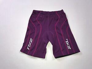 Women's 2XU Triathlon Running Shorts Size M Medium Athletic Fitness Purple #36