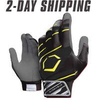 EvoShield Adult SPEED STRIPE GEL TO SHELL Batting Gloves BLACK / NEON
