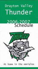 2006-07 DRAYTON VALLEY THUNDER HOCKEY POCKET SCHEDULE