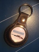 THEOBEN AIRGUNS:  LEATHER KEY RING  &  FREE Theoben STICKER