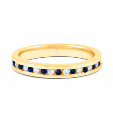 Wedding Eternity Natural Sapphire Fine Rings
