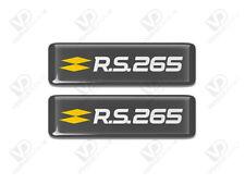 RENAULT MEGANE RS 265 - CASSIOPEE GREY - RENAULTSPORT GEL RESIN DOMED BADGES