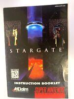 Stargate Instruction Manual Booklet Book Only SUPER NINTENDO SNES