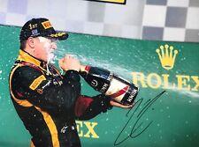 Kimi Raikkonen Hand Signed Lotus 16x12 Photo F1 1.