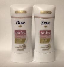 (2) New Dove Even Tone Rejuvenating Blossom 48HR Antiperspirant W/Vitamin B3