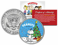 "Peanuts ""Snoopy with Christmas Tree"" JFK Half Dollar U.S. Coin *Licensed*"