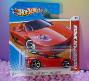 Vhtf 2011 I Hot Wheels FERRARI F430 SPIDER #190 Piccolo Rosso; oh5 Thrill Piloti